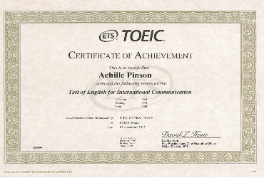 Date de passage du Test TOEIC Listening and Reading